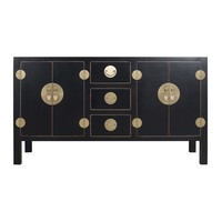 Chinese Sideboard Onyx Black - Orientique Collection W160xD50xH90cm