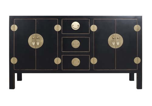 Fine Asianliving Chinese Sideboard Onyx Black - Orientique Collection W160xD50xH90cm