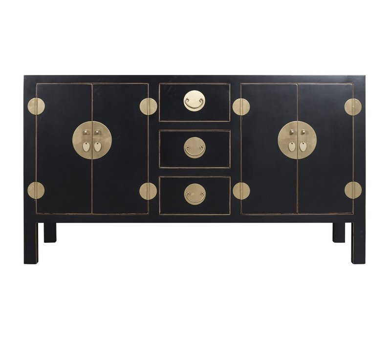 Chinese Dressoir Onyx Zwart - Orientique Collection B160xD50xH90cm