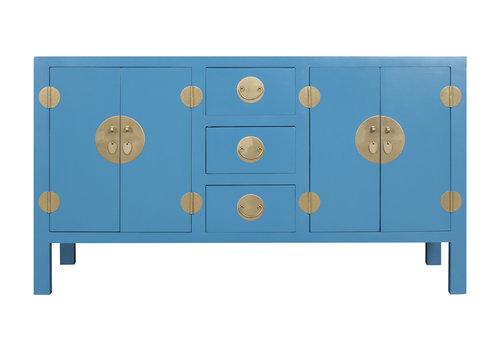 Fine Asianliving Buffet Chinois Bleu Saphir - Orientique Collection L160xP50xH90cm
