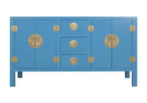 Fine Asianliving Chinese Sideboard Sapphire Blue - Orientique Collection W160xD50xH90cm