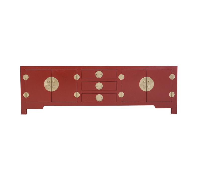 Mueble TV Chino Rojo Rubí - Orientique Colección A175xP47xA54cm