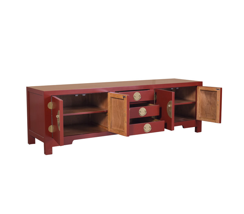 Chinese TV Cabinet Ruby Red - Orientique Collection W175xD47xH54cm