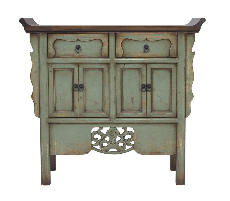 Chinese Sideboard Hand-carved Vintage Mint W90xD35xH85cm