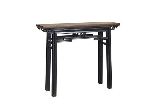 Fine Asianliving Table Console Chinoise Vintage Noir L106xP29xH90cm
