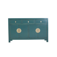 Chinese Sideboard Jade Blue W140xD35xH85cm - Orientique Collection