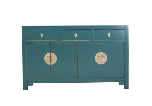 Fine Asianliving Chinese Sideboard Jade Blue - Orientique Collection W140xD35xH85cm