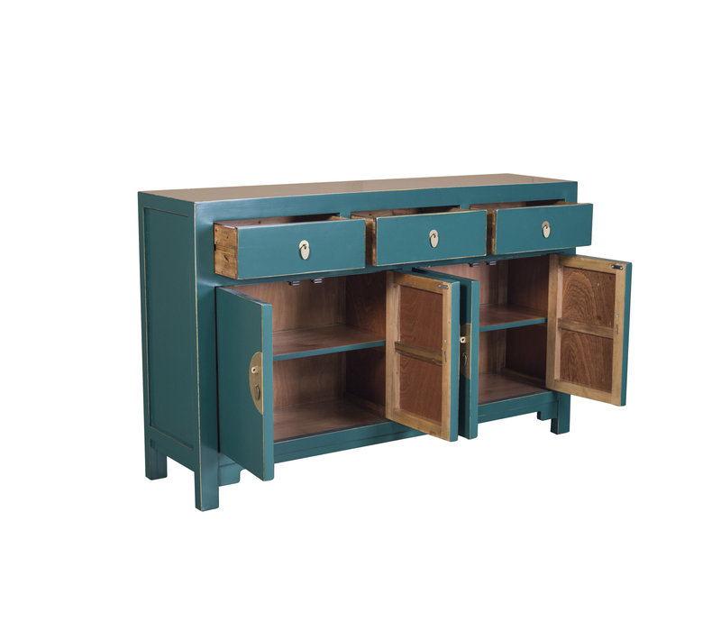 Chinese Sideboard Jade Blue - Orientique Collection W140xD35xH85cm