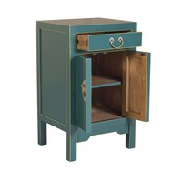 Chinese Bedside Table Jade Blue W42xD35xH70cm - Orientique Selection