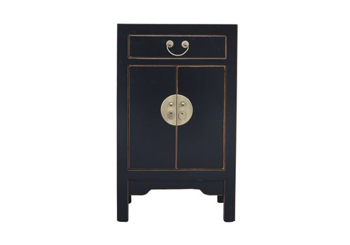 Fine Asianliving Chinese Bedside Table Onyx Black W42xD35xH70cm - Orientique Selection