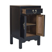 Chinese Bedside Table Onyx Black W42xD35xH70cm - Orientique Selection
