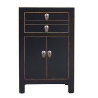 Chinese Bedside Table Black W40xD32xH60cm
