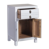 Chinese Bedside Table White W40xD32xH60cm