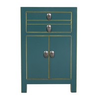 Chinese Bedside Table Teal W40xD32xH60cm