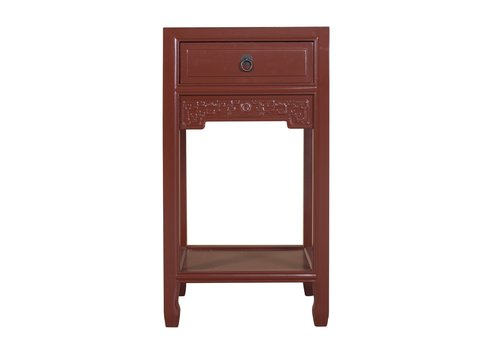 Fine Asianliving Chinese Plant Stand Burgundy Red Handcrafted