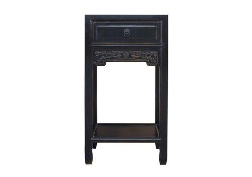 Fine Asianliving Porte-Plante Chinoise Noir Fait Main