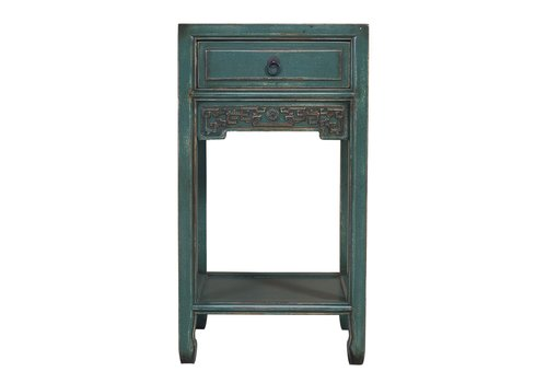 Fine Asianliving Chinese Plant Stand Handcrafted Vintage Blue