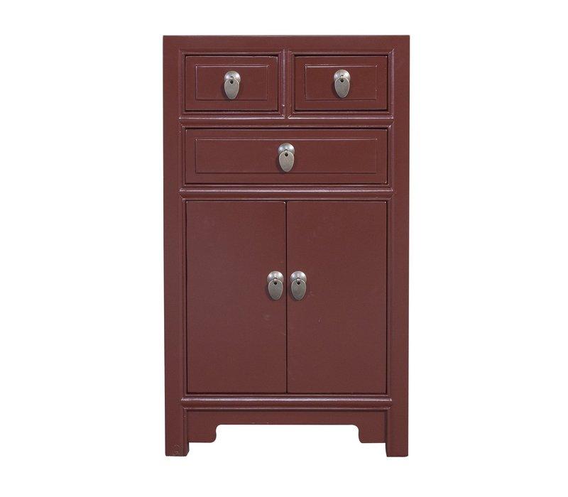 Gabinete Chino Roja de Borgoña A44xP42xA77cm