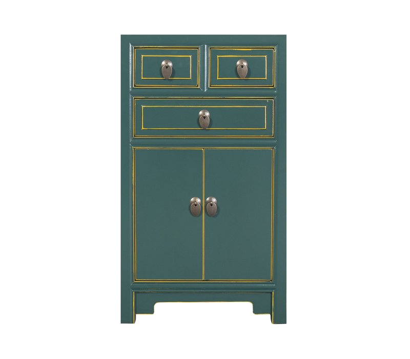 Chinese Bedside Table Teal W44xD42xH77cm