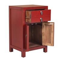 Chinees Nachtkastje Vintage Rood B40xD32xH60cm