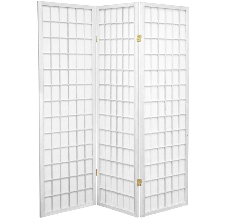 Japanese Room Divider Shoji Screen Tana White 3 Panel W135xH180cm