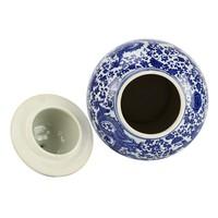 Chinese Gemberpot Porselein Blauw-Wit Handgeschilderd Draak D27xH51cm