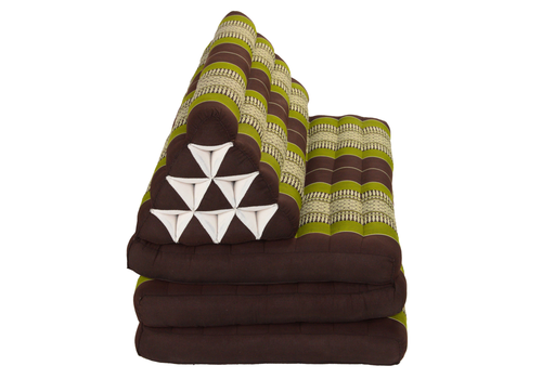 Fine Asianliving Thai Cushion Three-fold 80x190cm Triangle Cushion XXXL 8 Roll Seat Green