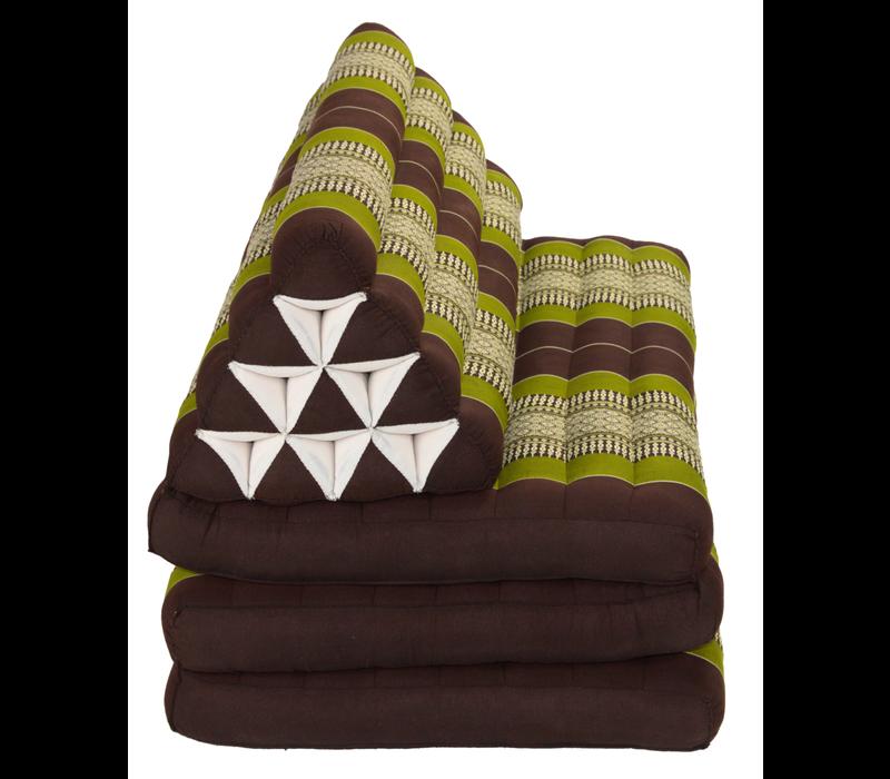 Thais Kussen Meditatie Driehoek Vloer Ligmat Yoga Uitklapbaar Kapok 80x190cm XXXL Groen