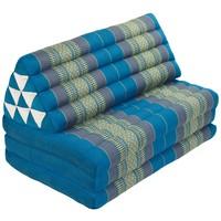 Thais Kussen Meditatie Driehoek Vloer Ligmat Yoga Uitklapbaar Kapok 80x190cm XXXL Hemels Blauw