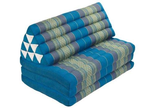 Fine Asianliving Thais Kussen Meditatie Driehoek Vloer Ligmat Yoga Uitklapbaar Kapok 80x190cm XXXL Hemels Blauw