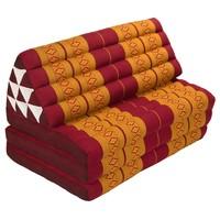 Thais Kussen Meditatie Driehoek Vloer Ligmat Yoga Uitklapbaar Kapok 80x190cm XXXL Oranje