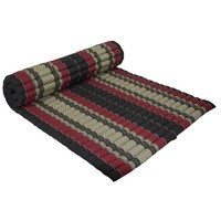Thai Mat Rollable Matress 200x100x4.5cm Black Red