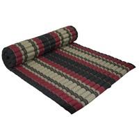 Thaimatte Rollbar Kapokfüllung 200x100x4.5cm Schwarz Rot