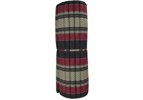 Fine Asianliving Thaise Mat Oprolbaar Matras 200x100x4.5cm Zwart Rood