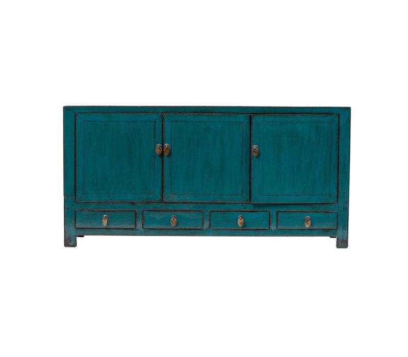 Antieke Chinese TV-meubel Glanzend Teal B141xD40xH70cm