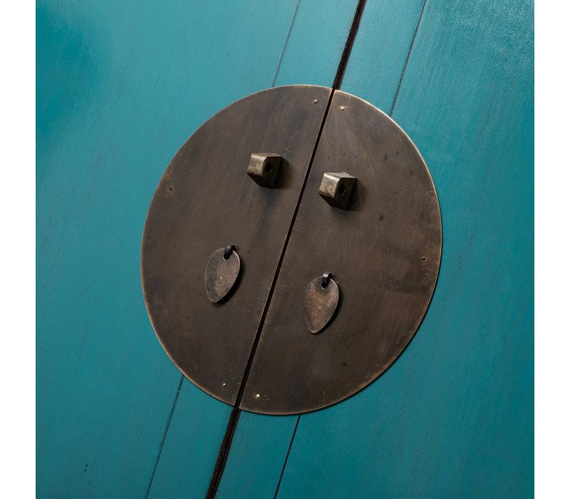 Antieke Chinese Bruidskast Teal B103xD48xH188cm