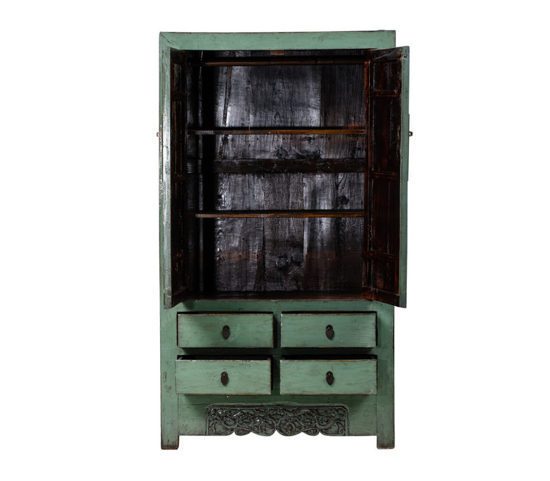 PREORDER 28/12/2020 Antique Chinese Wedding Cabinet Glossy Mint W105xD50xH184cm
