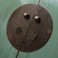 Antiker Chinesischer Hochzeitsschrank Glänzend Mint B105xT50xH184cm