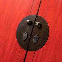 Antieke Chinese Bruidskast Glanzend Rood B92xD50xH185cm
