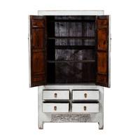Armoire de Mariage Chinoise Antique Blanc L103xP53xH190cm