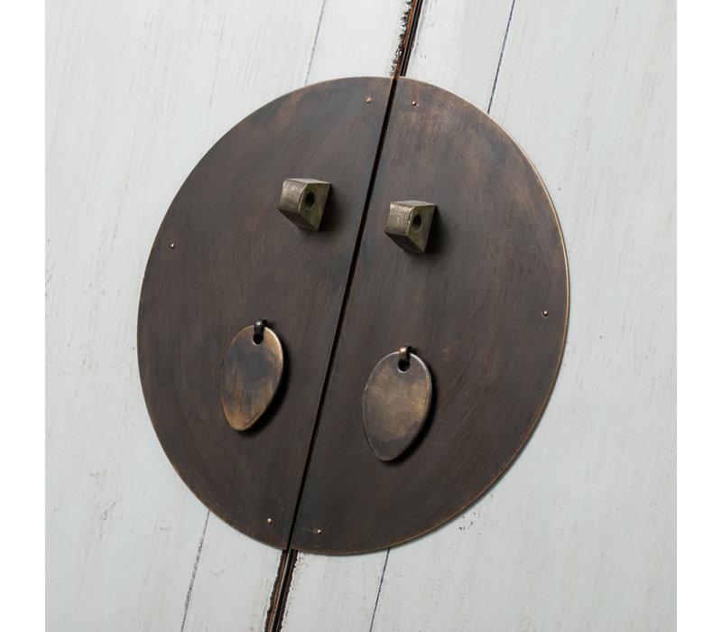 Antieke Chinese Bruidskast Wit B103xD53xH190cm