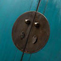 Antieke Chinese Bruidskast Glanzend Teal B113xD48xH188cm