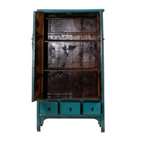 PREORDER 28/12/2020 Antique Chinese Cabinet Glossy Blue W105xD47xH189cm