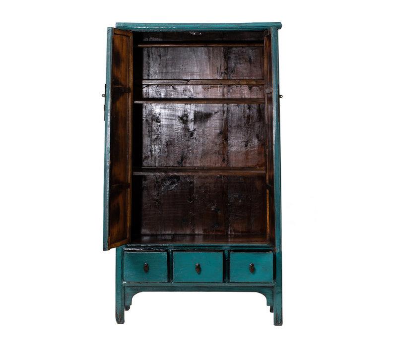 Armoire Chinoise Antique Bleu L105xP47xH189cm