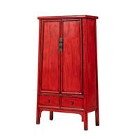 Armoire Chinoise Antique Rouge L98xP46xH183cm