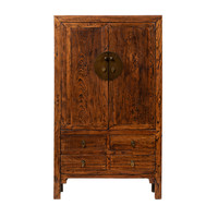 Antique Chinese Wedding Cabinet Brown W113xD48xH192cm