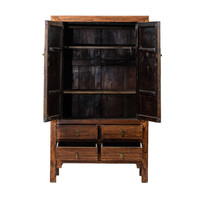 PREORDER 28/12/2020 Antique Chinese Wedding Cabinet Brown W113xD48xH192cm