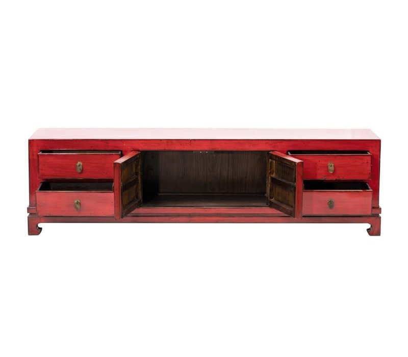 Chinese TV Cabinet Glossy Red W180xD40xH50cm