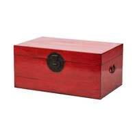 Antique Chinese Chest Glossy Red W93xD57xH43cm