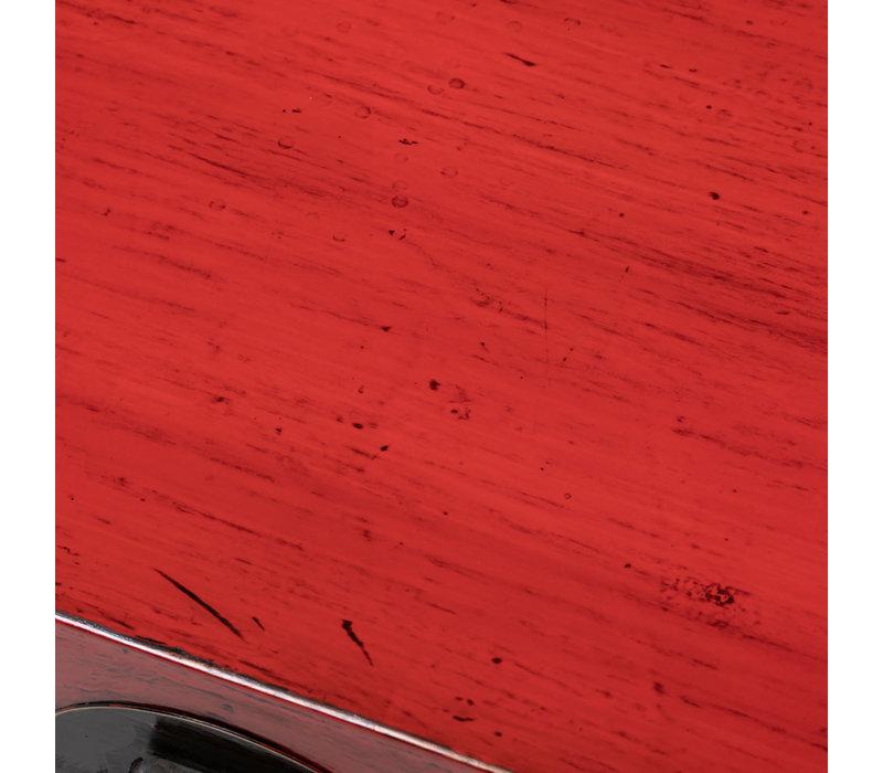Malle Coffre de Rangement Chinois Antique Rouge L93xP57xH43cm